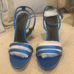 Sandalia Tacón Raso - Zara Electric Blue heels
